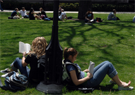 students on the University of Chicago Quad